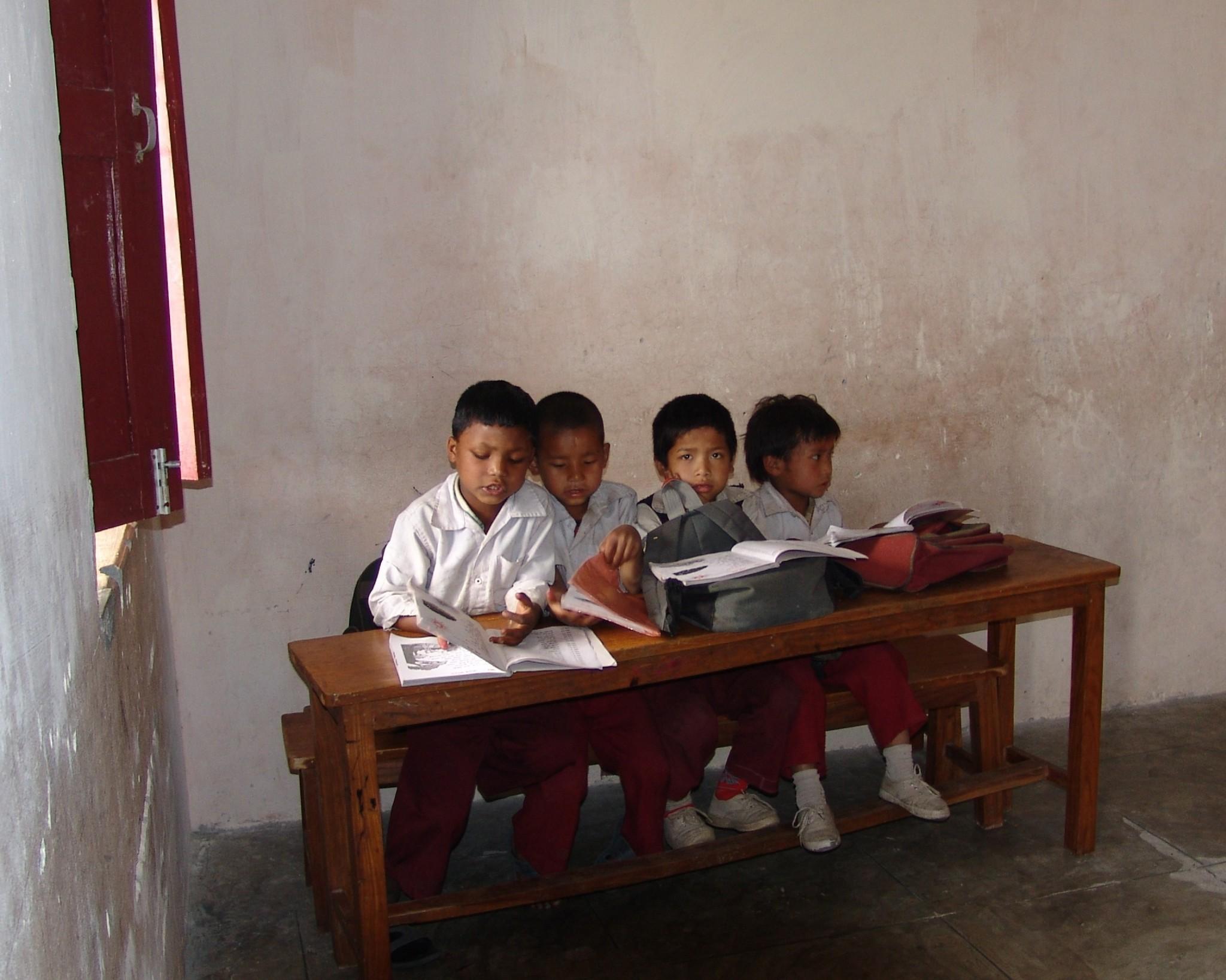 village children at school
